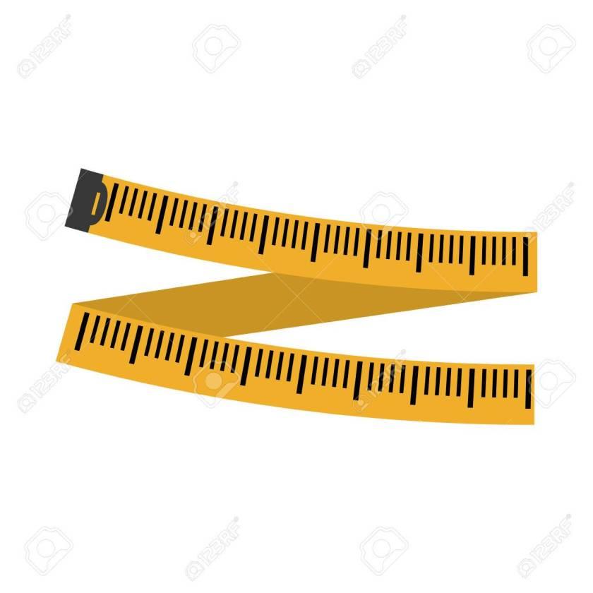 measuring tape diet icon image